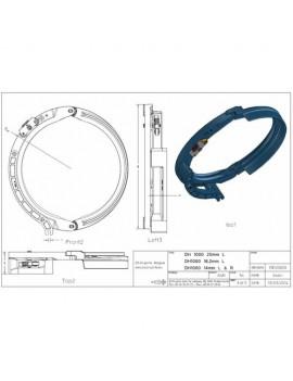 Draadgeleider DEMAG DH1000 20mm L